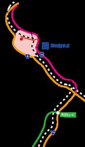 和田山からのマップ